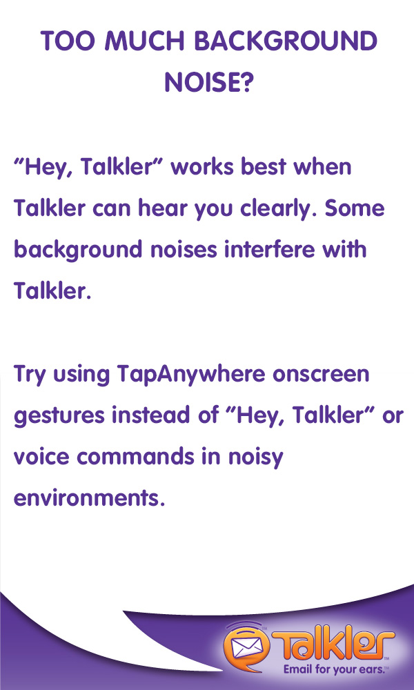 Talkler Tips - Noise