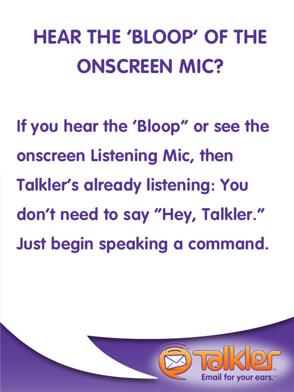 Talkler Tips - 'Bloop'