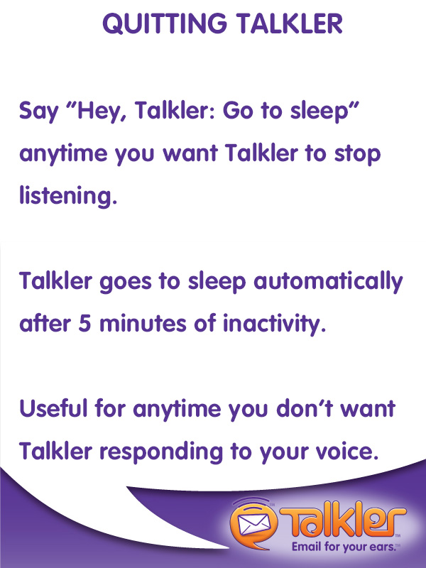 Talkler Tips - Quit Talkler