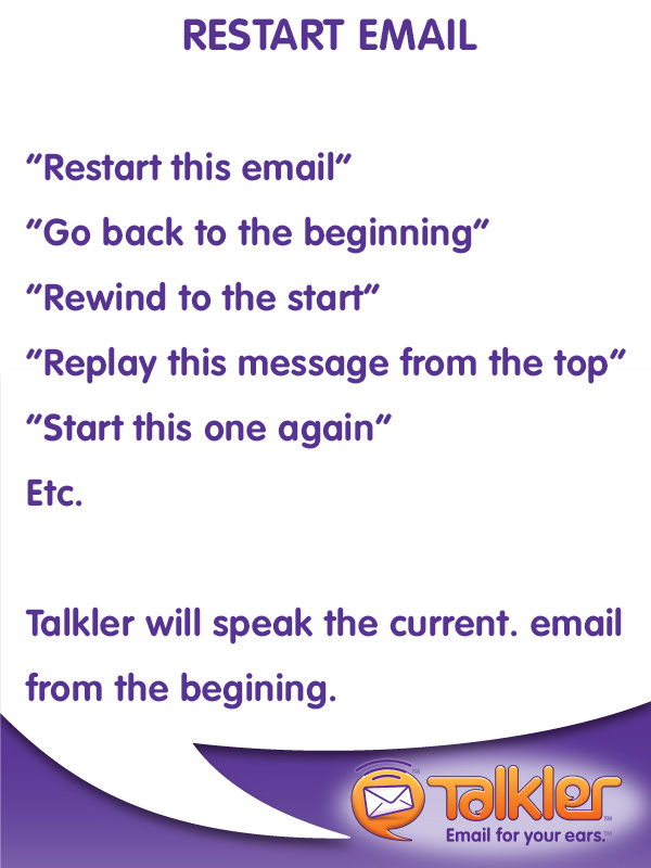 Talkler Tips - Restart Email