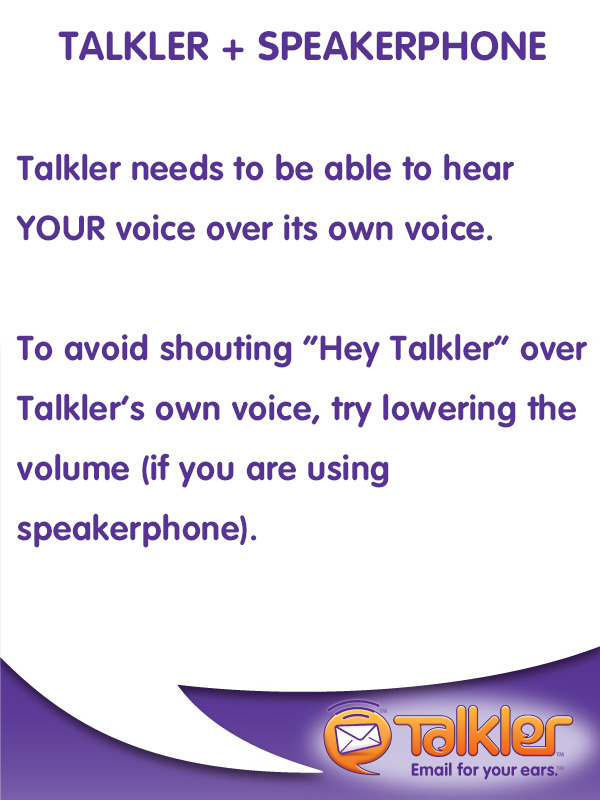 Talkler Tips - Speakerphone